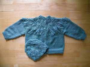 Leafy Baby Sweater