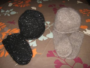 more knit and felted hats and mitts
