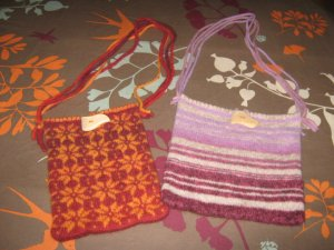 my own design for knit and felted handbags