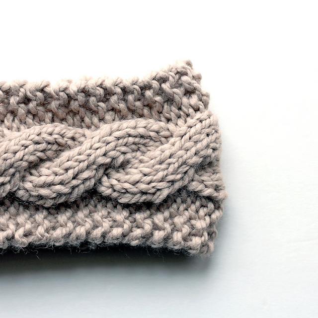 Cabled Knit Headband