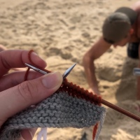 Beach Knitting